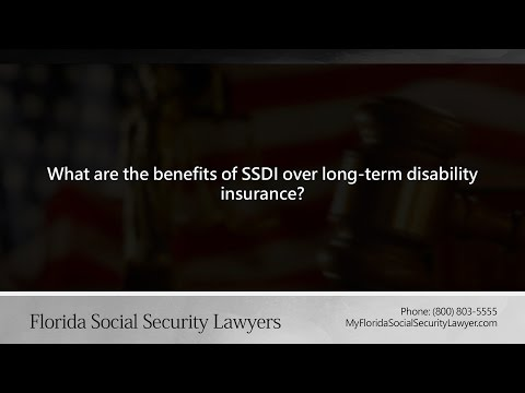 What are the benefits of SSDI over long-term disability insurance?