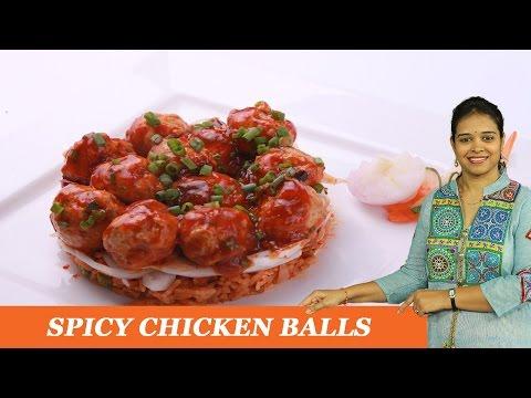 SPICY CHICKEN BALLS - Mrs Vahchef