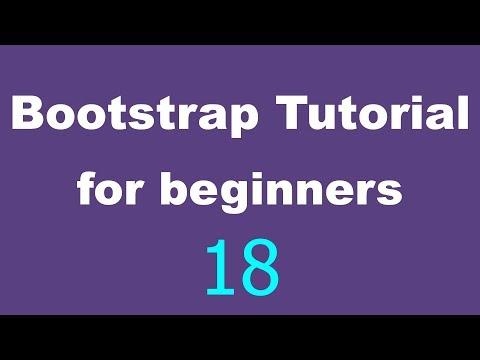 Bootstrap Tutorial for Beginners - 18 - Navigation bar