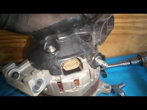 How to remove replace Mazda 6 alternator 4 cylinder topside