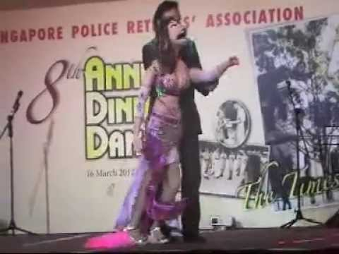 Singapore magician ventriloquist performing his best act with Diva for the Police Force