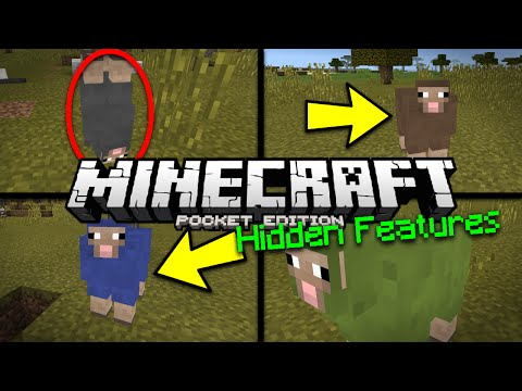 Minecraft PE 0.15.0 Hidden Feature - UPSIDE DOWN MOB / RAINBOW SHEEP MCPE Trick (Pocket Edition)