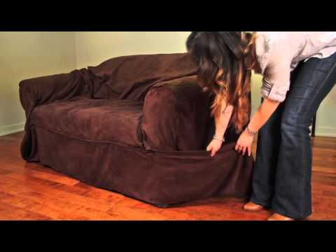 How to Install a 1-Piece Relaxed-Fit Wrap Construction Slipcover by Caber Sure Fit Inc.