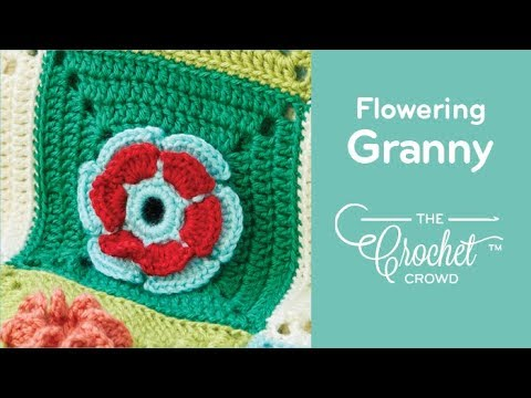 How to Crochet Blooming Flower Granny Square