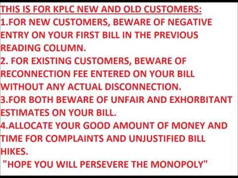 Ghost units KPLC bill