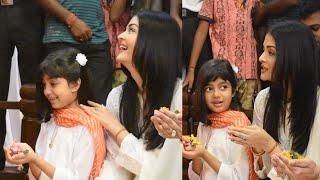 Aishwarya Rai With Daughter Aaradhya Bachchan Maa Durga Puja 2019