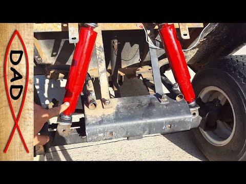 Repair broken mounts and shocks on the EZGO