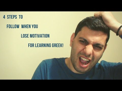 4 steps to follow When You LOSE MOTIVATION for Learning Greek! 💡