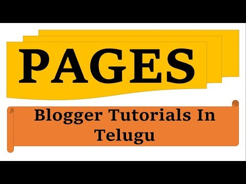 Create Pages in Blogger in telugu by Kotha Abhishek