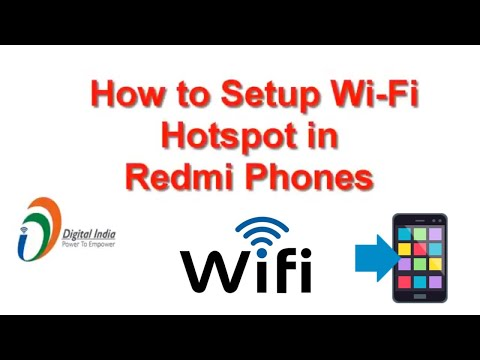 How to Setup Wi Fi Hotspot in Redmi android phones