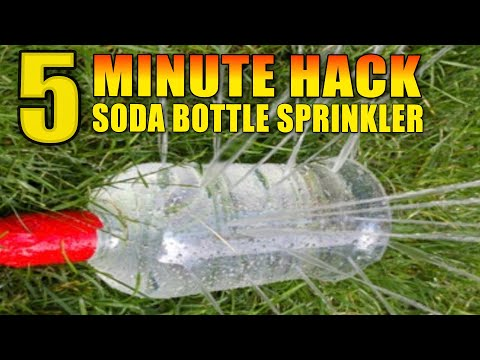 How to make a Garden Sprinkler fast, easy and FREE.