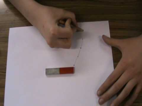 To plot the magnetic field of a bar magnet.