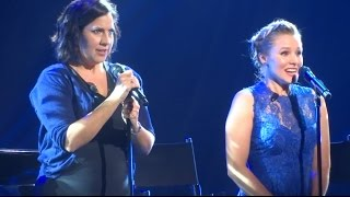 Kristen Bell and Kristen Anderson-Lopez perform at D23 Expo 2015