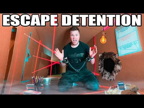 BOX FORT HIGH SCHOOL ESCAPING DETENTION!! 📦🚌 Lasers, Drones & More!