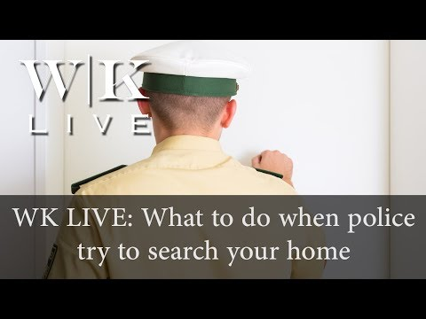 What to do when police want to search your home