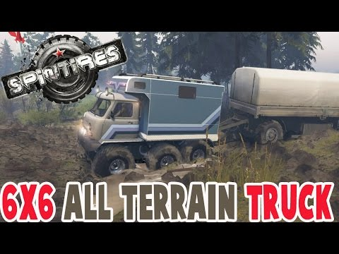 Spintires - AWESOME 6x6 ALL TERRAIN TRUCK - Spin Tires Mods