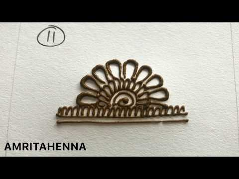 HENNA MEHNDI FOR BEGINNERS - TYPES OF SEMI CIRCULAR PATTERNS | BEST ONLINE MEHENDI LEARNING TUTORIAL