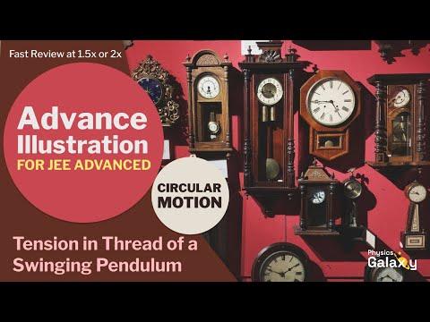 21. Physics   Circular Motion   Tension in Thread of a Swinging Pendulum   by Ashish Arora