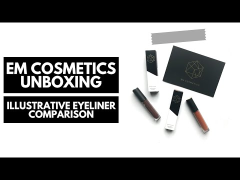 em cosmetics ● unboxing + illustrative eyeliner comparison ▶︎ the sofieyah diaries
