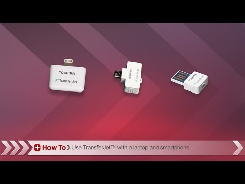 Toshiba How-To: Using TransferJet™ wireless adapter to transfer files from your iPhone to a PC