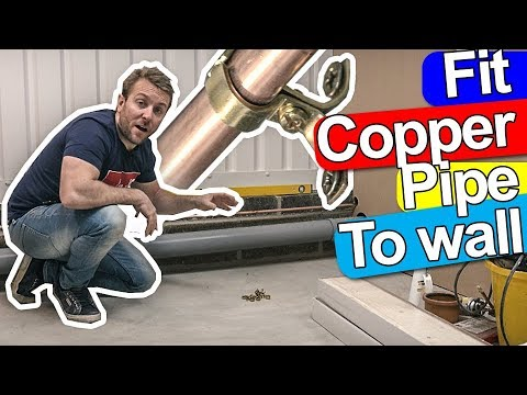 HOW TO INSTALL COPPER PIPE CLIP TO CLIP - Not the normal way!