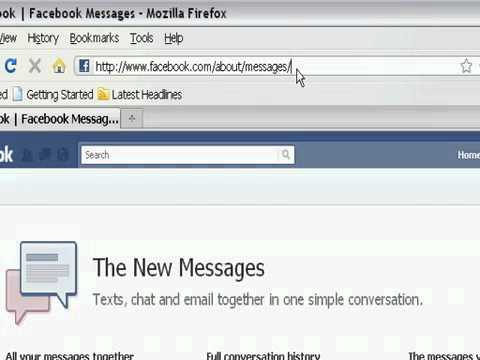 How To Get A New Facebook Email _ messaging Account!!! username@facebook-com.flv