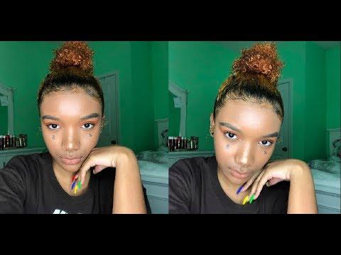 orange eyeshadow look//grwm kinda