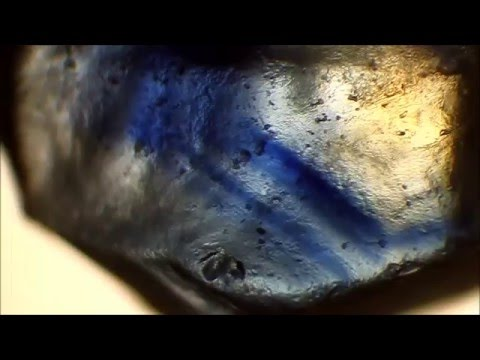 Unheated rough Sapphire VS Cobalt-Doped Glass Filled rough Sapphire