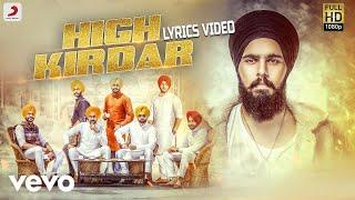 High Kirdar - Lyrics Video | Jugraj Rainkh ft. MBR