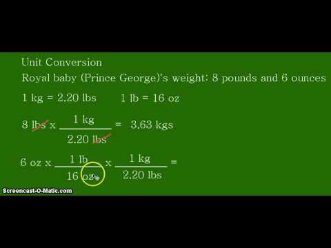 Royal Baby Weight - Pounds to Kilograms Unit Conversion