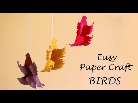 How to Make Paper Birds | Easy Paper Crafts | Little Crafties