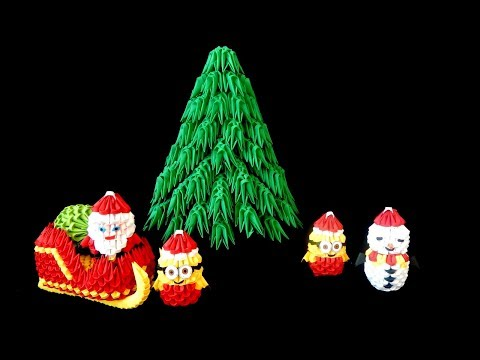 3D Origami  Christmas tree tutorial ||  DIY paper Christmas tree 2