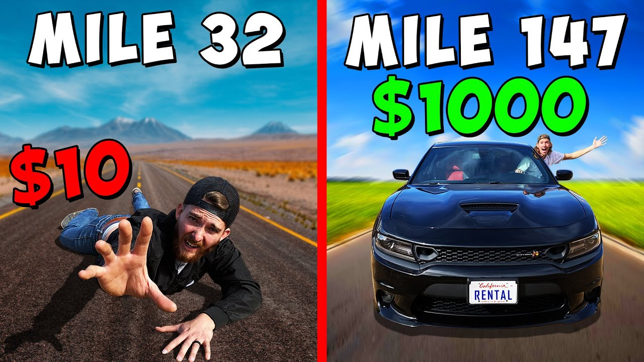 Who can Travel the Farthest?! *$10 vs $1000 BUDGET BATTLE*