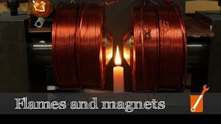 Candle flame is repelled by magnets (and Zeeman follow-up)