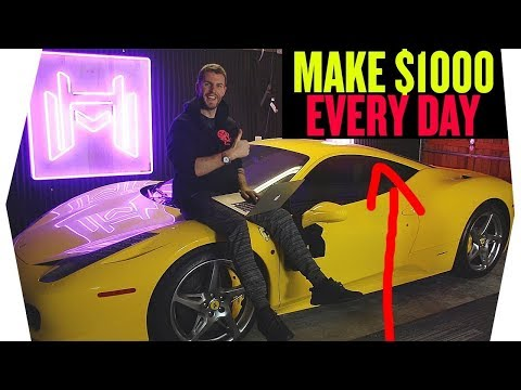 MAKE $1000 A DAY FOR FREE IN 2018! NO SURVEYS EASY NEWBIE