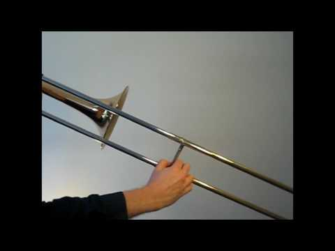 Learn to play A major scale on trombone