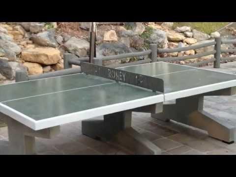 Concrete table tennis!