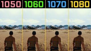 PUBG GTX 1050 Ti vs. GTX 1060 vs. GTX 1070 vs. GTX 1080 (Desert - Miramar)