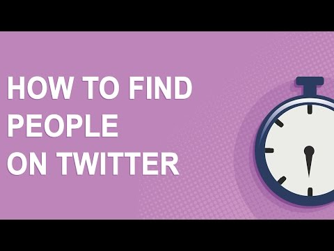 How to find people on Twitter (just 4 minutes long!)