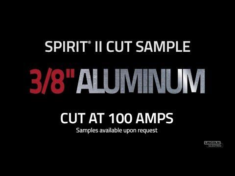 "Spirit® II Plasma Cut Sample, 3/8"" Aluminum Cut at 100 AMPS"