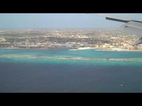 Flying into Aruba