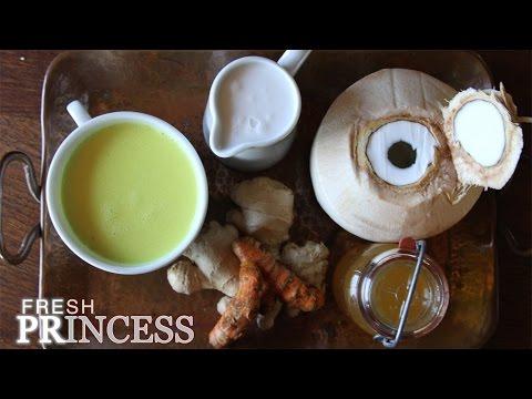 Golden Milk: Turmeric and Ginger Tea with Coconut Milk  |  Fresh P