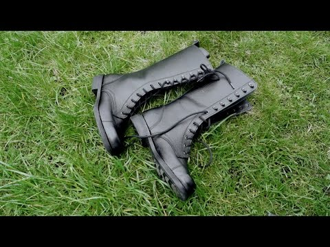 Military Russian Combat Boots Biker Gothic Leather Boots