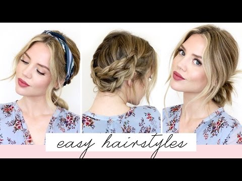 5 EASY Hairstyles For Short/Medium Length Hair [Spring Edition] | Luxy Hair