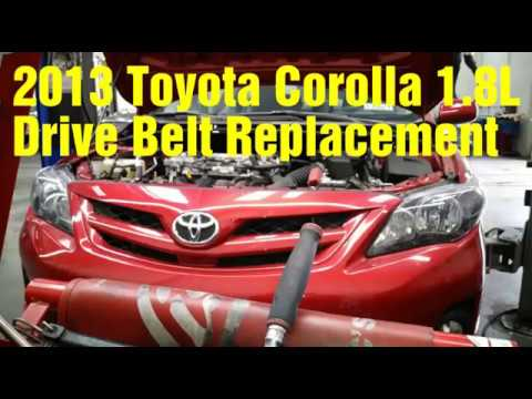 2013 Toyota Corolla drive belt replacement
