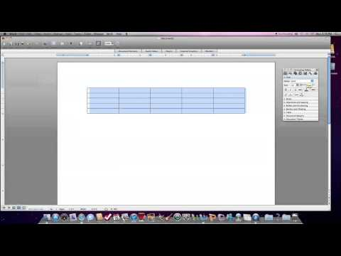 How to create a table in Microsoft Word 2010 for Mac