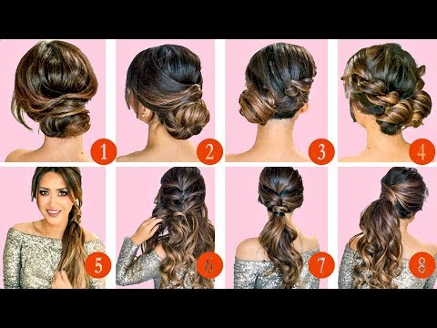 🔴 10 ELEGANT HAIRSTYLES & UPDOS 🔴 | EASY HAIRSTYLE TUTORIAL for LONG MEDIUM HAIR