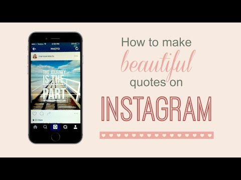 How to make beautiful Instagram quotes with your iPhone