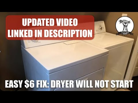 EASY FIX: Dryer Will Not Turn On