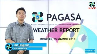 Download Public Weather Forecast Issued at 4:00 AM March 25, 2019 Video
